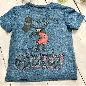 Disney Junior- Boys Dark Blue Mickey Mouse T Shirt